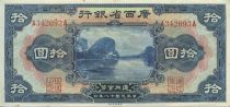 China 10 Dollars River scene