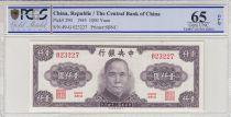 China 1000 Yuan  - Sys - 1945 - PCGS 65OPQ