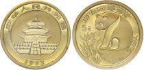 China 5 Yuan, Panda - 1/10 Oz Gold 1999 - KM.1215