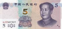 China 5 Yuan Mao - Mountain - 2020 - UNC - Serial AJ03