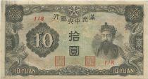 China J.137 10 Yuan, Emperor Ch´en Lung, dragons - 1944 J.137.c 10 Yuan