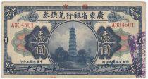 Chine 1 Dollar - Pagode - 1918