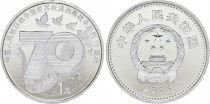 Chine 1 Yuan, 70 ème Anniv. Victoire 1945 - 2015