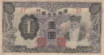Chine 1 Yuan, T\'ien Ming, dragons - 1944 Série 77