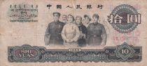 Chine 10 Yuan 1965 - P.879a - B à TB