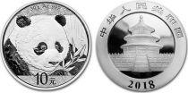 Chine 10 Yuan Panda - Argent 2018