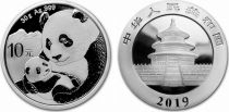 Chine 10 Yuan Panda - Argent 2019