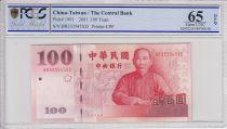 Chine 100 Yuan Chiang Kai-Shek - Palais - 2001 -PCGS 65 OPQ