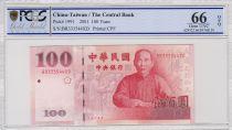 Chine 100 Yuan Chiang Kai-Shek - Palais - 2001 -PCGS 66 OPQ