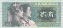 Chine 2 Jiao Indigène Buyi, Coréen - 1980