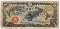 Chine 5 Yen Onagadori - 1940 - Série 11