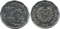 Chypre 1/2 Cent Cyclamen
