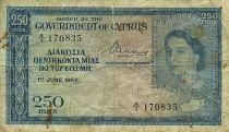 Chypre 250 Mils Elisabeth II