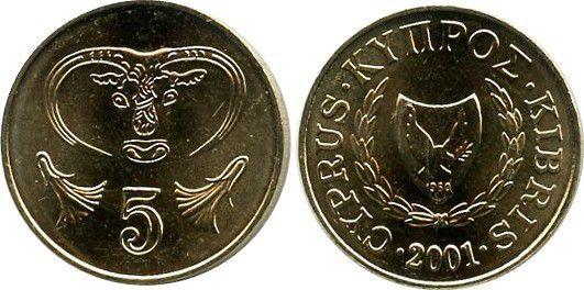 Chypre 5 Cent Taureau