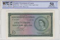 Chypre 5 pounds  Elisabeth II - 1955 - PCGS AU 50