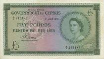 Chypre 5 Pounds Elisabeth II