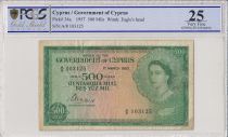 Chypre 500 Mils Elisabeth II - 1957 - PCGS VF 25