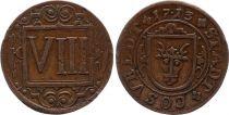 Coesfeld 8 Pfennig  Arms - 1713