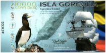 Colombia (Club de Medellin) 10000 Cafeteros, Isla Gorgona : Boat Bird - Whale - 2014