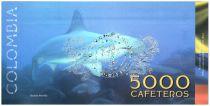 Colombia (Club de Medellin) 5000 Cafeteros, Isla Malpelo : Boat Gull - Shark - 2014