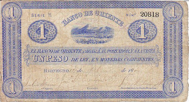 Colombia 1 Peso Mountains