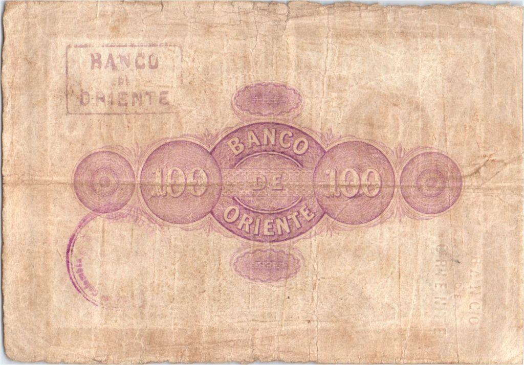 Colombia 100 Pesos Mountains 1900