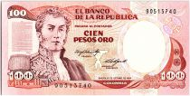 Colombia 100 Pesos Oro, Gal A Narino - 1984