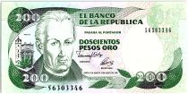 Colombia 200 Pesos oro, J. C. Mutis - National Observatory - 1992