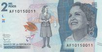 Colombia 2000 Pesos Débora Arango Perez - 2016 (2018)