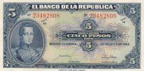 Colombia 5 Pesos Oro, Gal Cordoba - 1944 - UNC - P.386c