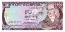 Colombia 50 Pesos oro oro, Camillo Torres - Orchids