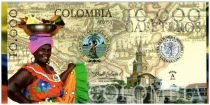 Colombie (Club de Medellin) 10000 Cafeteros, Colombia : Femme et fruits - Monuments - 2013