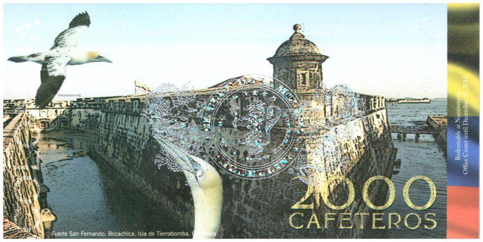 Colombie (Club de Medellin) 2000 Cafeteros, Isla Tierra Bomba : Navire Goelan - Fort San Fernando - 2014