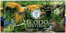 Colombie (Club de Medellin) 20000 Cafeteros, Colombia : Perroquet - Jaguar - Serpent - 2013