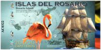 Colombie (Club de Medellin) 20000 Cafeteros, Islas del Rosario : Navire Flamand Rose - Corail - 2014