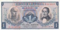 Colombie 1 Peso 1963