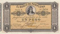 Colombie 1 Peso Femme - 1883