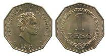 Colombie 1 Peso Simon Bolivar