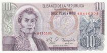 Colombie 10 Pesos 1980
