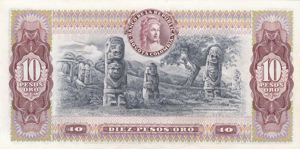 Colombie 10 Pesos Général Narino- 07-08-1980 - Série AZ - Neuf - P.407