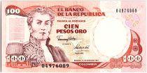 Colombie 100 Pesos Oro, Gal A Narino - 1991