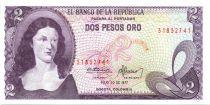 Colombie 2 Pesos de Oro de Oro, Policarpa Salavariette - El Dorado 1977
