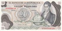 Colombie 20 Pesos 1982