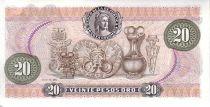 Colombie 20 Pesos de Oro de Oro, F. J. de Caldas, mapmonde - 1981