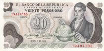 Colombie 20 Pesos F. J. de Caldas - 1983 - Neuf - P.409