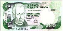 Colombie 200 Pesos oro, J. C. Mutis - Observatoire national - 1992