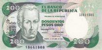 Colombie 200 Pesos oro oro, J. C. Mutis - Observatoire national - 1991