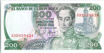 Colombie 200 Pesos Simon Bolivar - Récolte du café - 1979