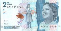 Colombie 2000 Pesos Débora Arango Perez - 2015 (2016)