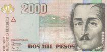 Colombie 2000 Pesos Gal Santander (Format réduit) - 2013